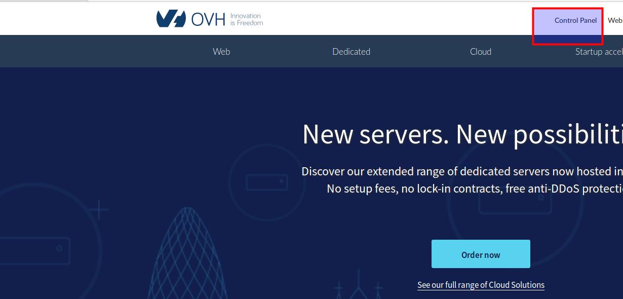 OVH server installation - Kolmisoft Wiki